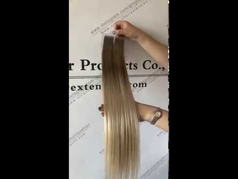 The Best Quality Ombre Color Balayage Color Remy Tape In Hair Extensions
