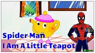Spider-Man Ich Bin Ein Wenig Teekanne Englische Kinderreime | Avengers Cartoon-Kinderreime Für Kinder |