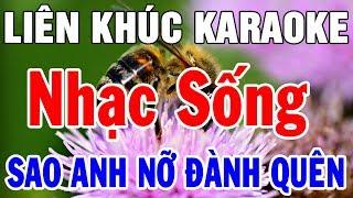 Karaoke Nhạc Sống Trữ Tình Bolero Hải Ngoại | Liên Khúc Sao Anh Nỡ Đành Quên | Trọng Hiếu