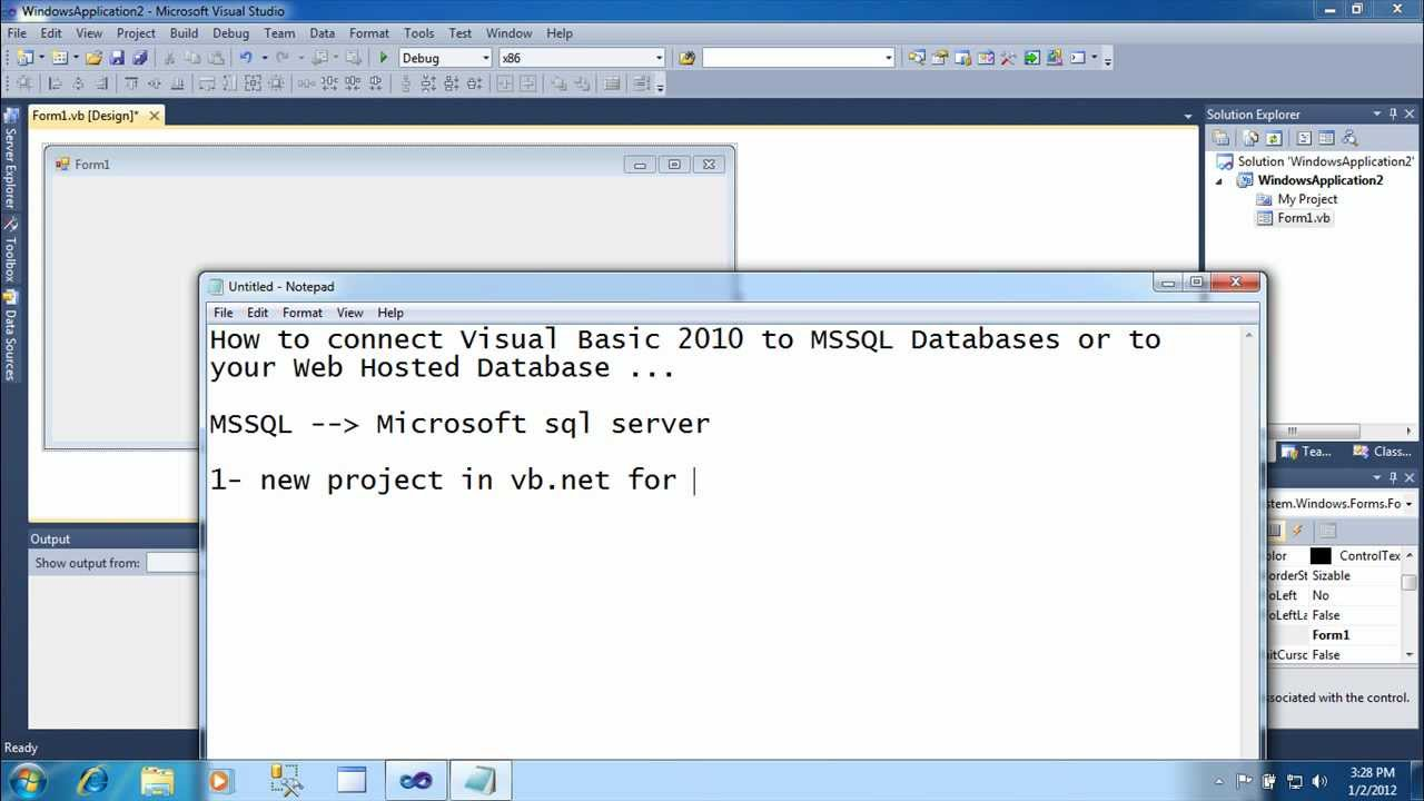 How to Connect visual basic 2010 to mssql online database