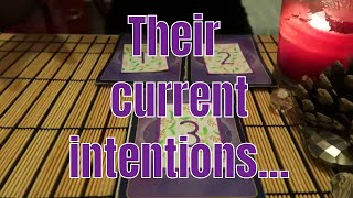 PICK A CARD ** Their current intentions ** (Timeless)