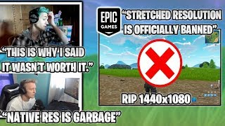 NINJA Roasts Stretched Res Players After Epic Bans Them & TFUE Salty.. (Fortnite Moments)