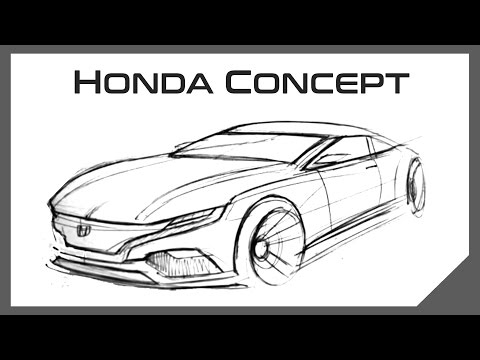 Five Minute Car Sketch | Honda Coupe Concept | Automotive Design