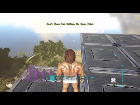 Ark New build glitch UNRAIDABLE floating base!!