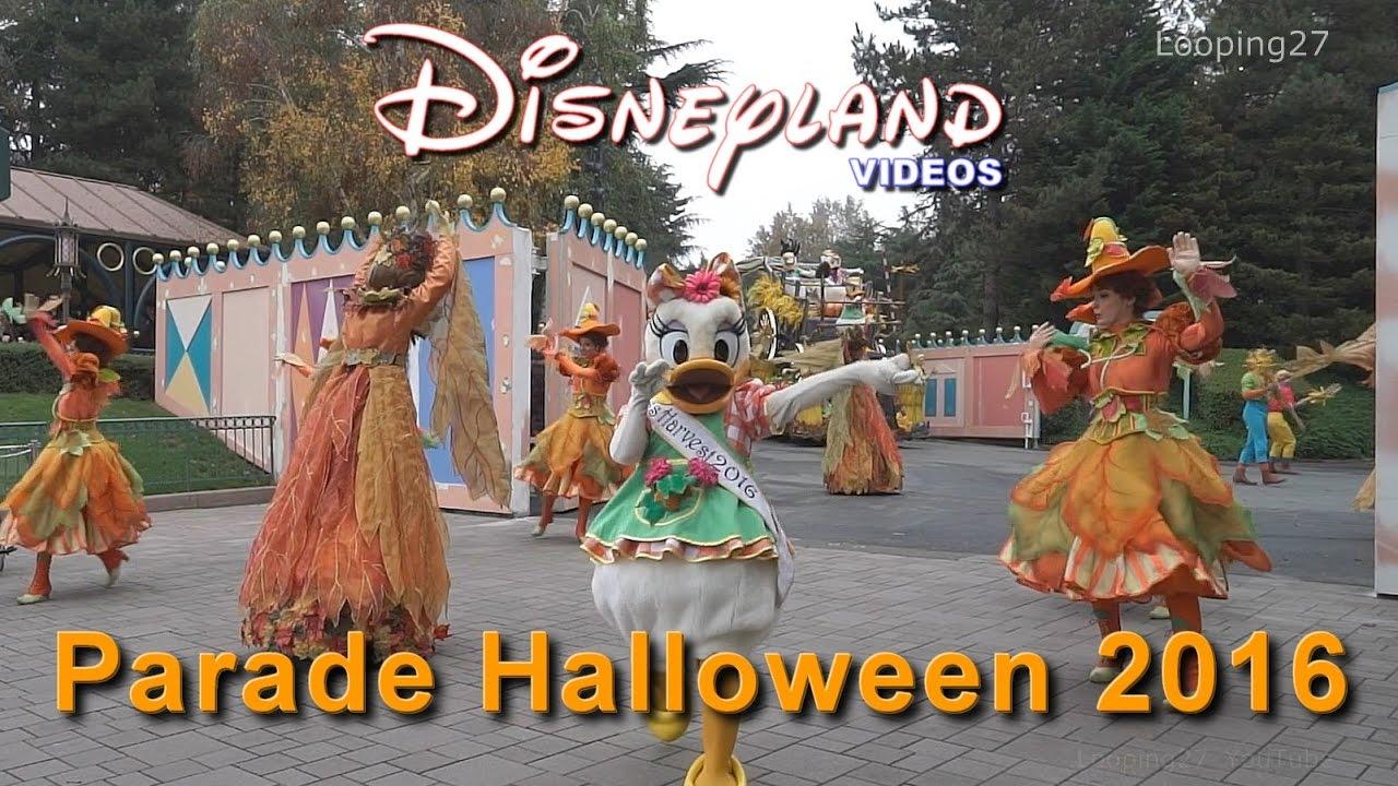 parade halloween 2016 - disneyland paris hd - youtube