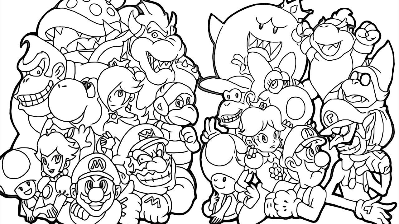 Magical coloring box  Super Mario Bros Coloringpages - YouTube