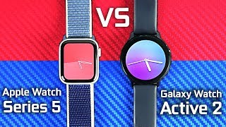 Apple Watch Series 5 Vs Samsung Galaxy Watch Active 2 Youtube