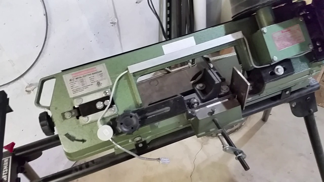 Metal Cutting Bandsaw Mods Harbor Freight Youtube