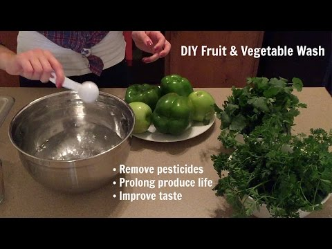 Homemade Fruit & Vegetable Wash - DIY - The Best Way to Wash Produce