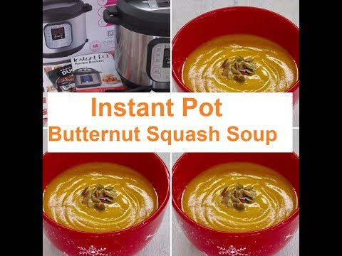 Instant Pot Butternut Squash  Soup/ #Recipe381CFF