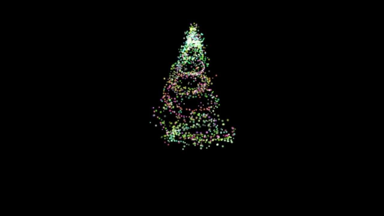appearing colored abstract christmas tree free hd overlay transition - Christmas Overlays