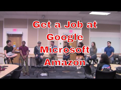 What does it take to get a job at Google, Microsoft, Amazon, etc