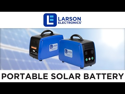 Portable Solar Power Battery Pack with 1500Wh Capacity - 120V or 240V - Photovoltaic (PV) Capable