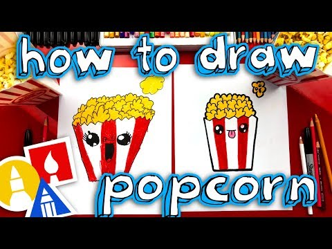 How To Draw Funny Popcorn
