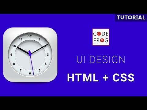 UI Design Tutorial - Analog Clock | HTML CSS Speed Coding