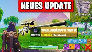 NEUES Update - Schallgedämpfte Sniper, Patchnotes | Fortnite Season 7 Deutsch German