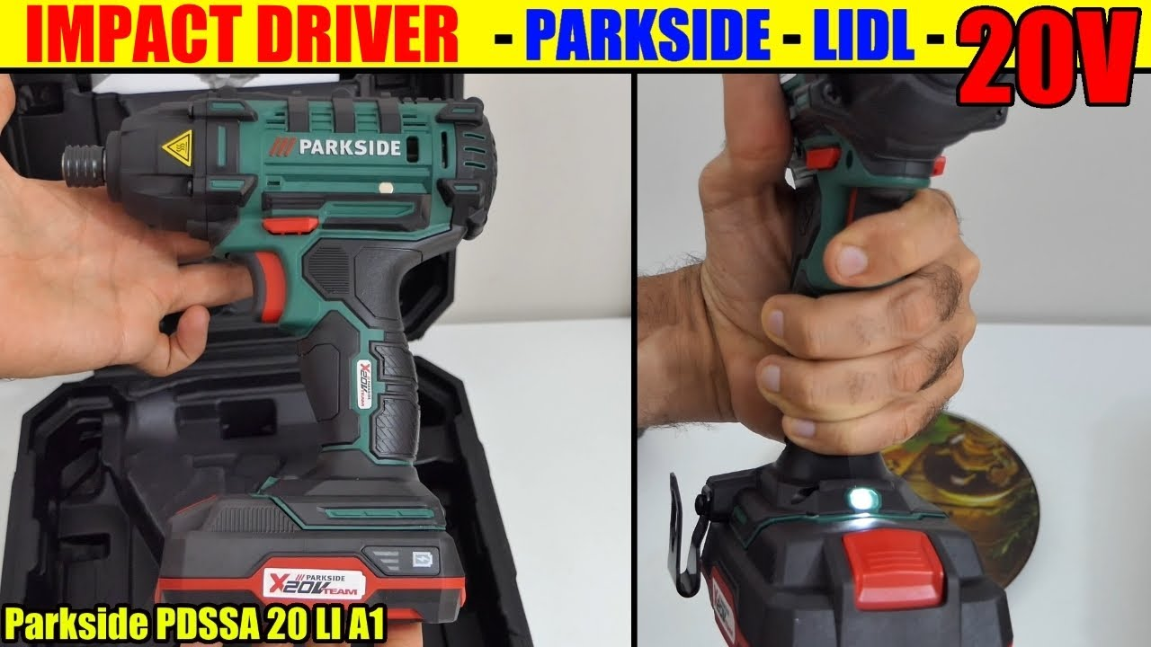 parkside impact driver 20v lidl pdssa cordless x20v team unboxing akku drehschlagschrauber youtube. Black Bedroom Furniture Sets. Home Design Ideas