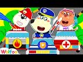 Wolfoo Playing Professions with Lego Cars: Fire Truck, Police Car, Ambulance | Wolfoo Channel