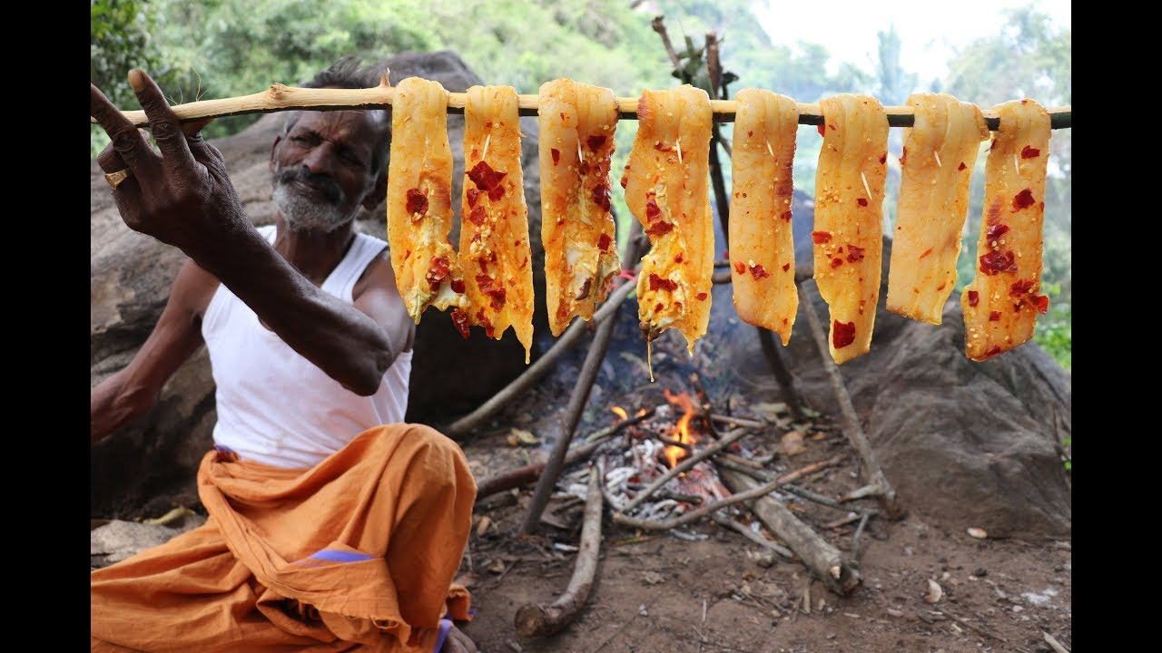 Coconut Rock FISH Prepared in Smoky Style / Prepared my DADDY Survival style / Village food factory