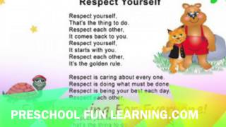 Respect Yourself Song Preschool Fun Learning Music