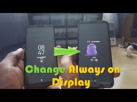 CHANGE ALWAYS ON DISPLAY S8 (Download AOD Themes)