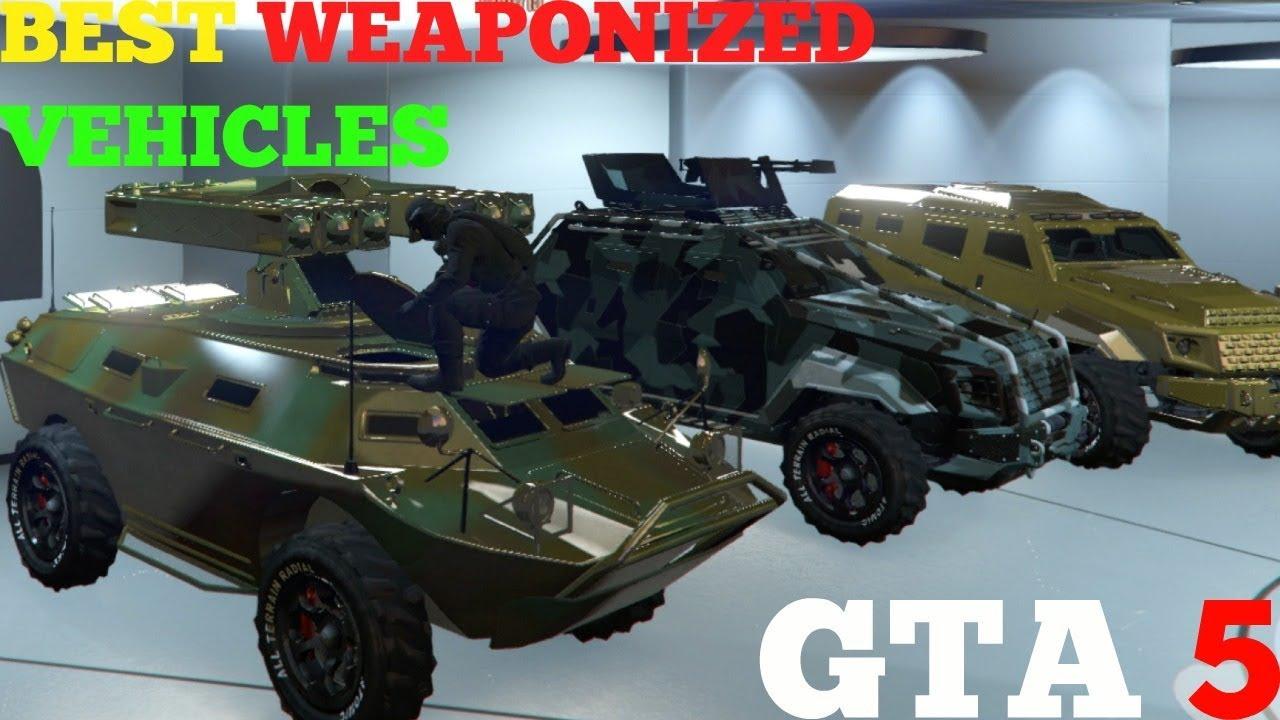 BEST WEAPONIZED VEHICLES IN GTA 5 GUNRUNNING DLC - YouTube