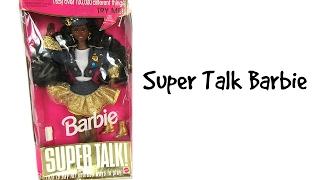 RETRO 90's BARBIE - SUPER TALK BARBIE - DOLL REVIEW