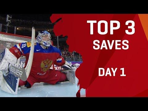 Top 3 Saves - Day 1 - #IIHFWorlds 2017 - 동영상