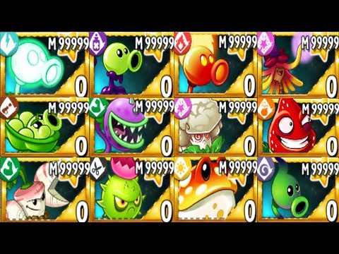 Plants Vs Zombies 2 MOD: All Plants Premium Mastery 999999 Vs All Freakin' Zomboss