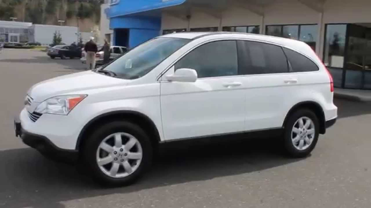 2008 honda cr v whi white stock b2984 walk around youtube. Black Bedroom Furniture Sets. Home Design Ideas