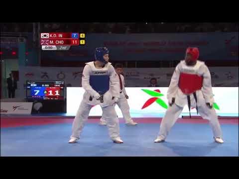 2017 World Taekwondo GRAND PRIX SERIES 2 RABAT Semifinal+80kg  Mahama CHO (GBR) vs Kyo-don IN (KOR)
