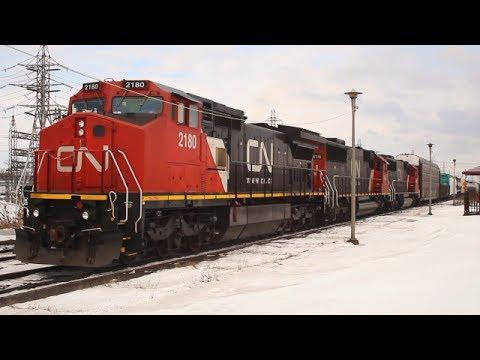 Trains in Dorval,Quebec !