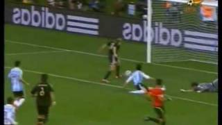 Argentina vs Germany 0-4 Full highlights and goals 2010