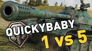 World of Tanks || QuickyBaby goes 1 vs 5...