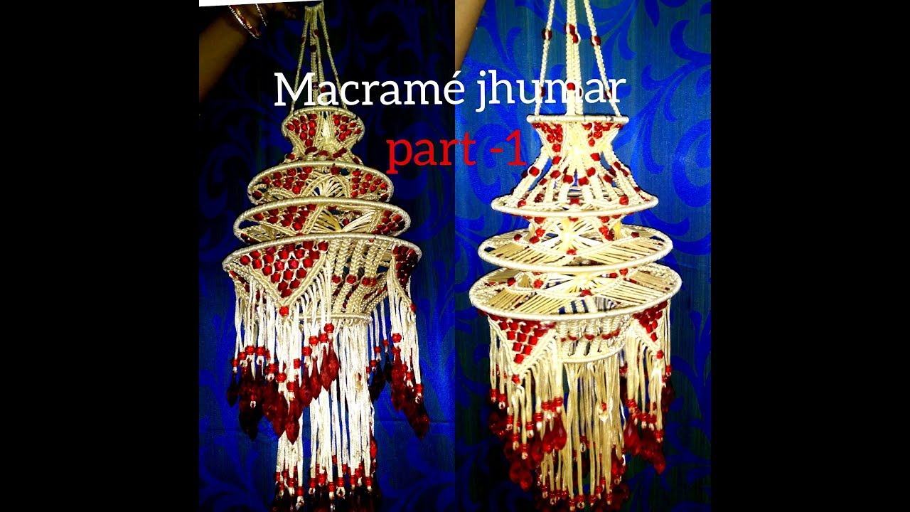 How To Make Designer Jhumar Macrame At Home Beautiful Design Very Simple Design