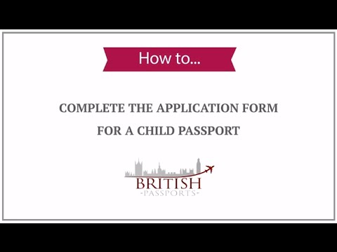 How to apply for a british passport a child born in pakistan