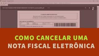 Cancelamento  de Nota Fiscal eletrônica - NF-e || UP KEY Software