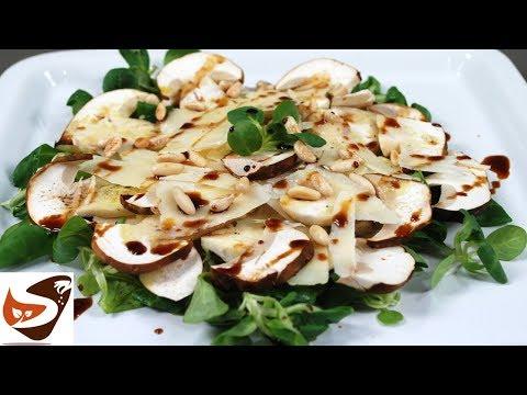 Funghi porcini, Soncino e scaglie di Parmigiano - Antipasti veloci