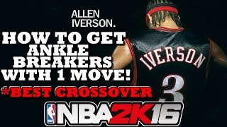 NBA 2K16 HOW TO GET ANKLE BREAKERS WITH 1 MOVE!! (Tutorial)
