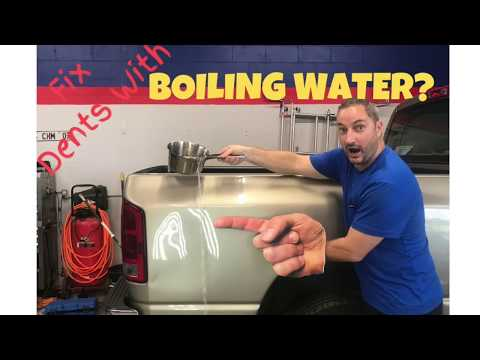 Remove Dents With Hot Boiling Water! DIY. Dent Force Paintless Dent Repair Merritt Island