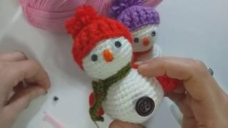 yeni yıl için sevdiklerimize kardan adam örelim/amigurumi kardan adam nasıl örülür/crochet/örgü