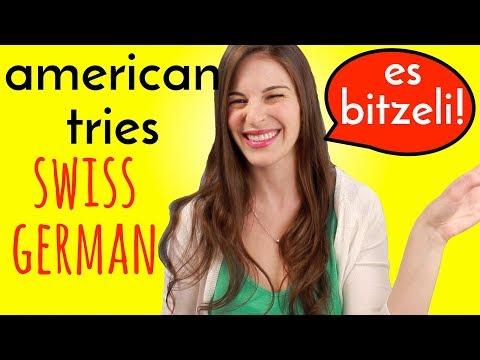 American Tries Speaking SWISS GERMAN