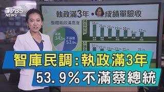 【說政治】智庫民調執政滿3年 53 9%不滿蔡總統