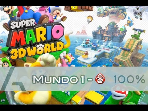 Super Mario 3D World | Mundo 1-Toad (100% Walkthrough)