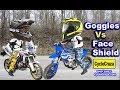 Goggles Vs Face Shield For Dual Sport Helmet? | MotoVlog