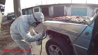 Пескоструйная обработка Гелендваген №3. Gelandewagen body restoration 🔥