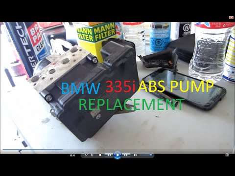 E90 BMW 335i ABS Pump Replacement DIY and Calibration