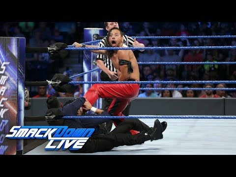 Thumbnail: Shinsuke Nakamura vs. The Singh Brothers — 1-on-2 Handicap Match: SmackDown LIVE, Aug. 22, 2017