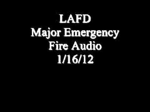 Los Angeles Major Emergency Fire 1/16/12