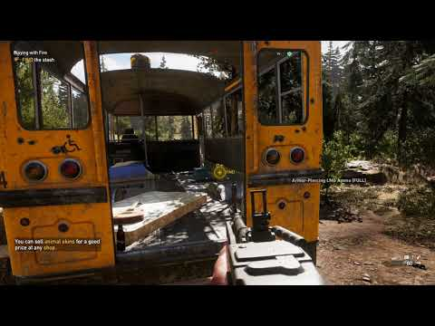 Far Cry 5 - Playing With Fire (Prepper Stash) Note, Find The Stash, Search Pipe, Key Location (2018)